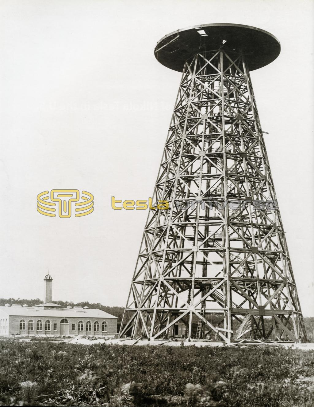 Tower at Wardenclyffe under construction - Tesla's most grandiose project