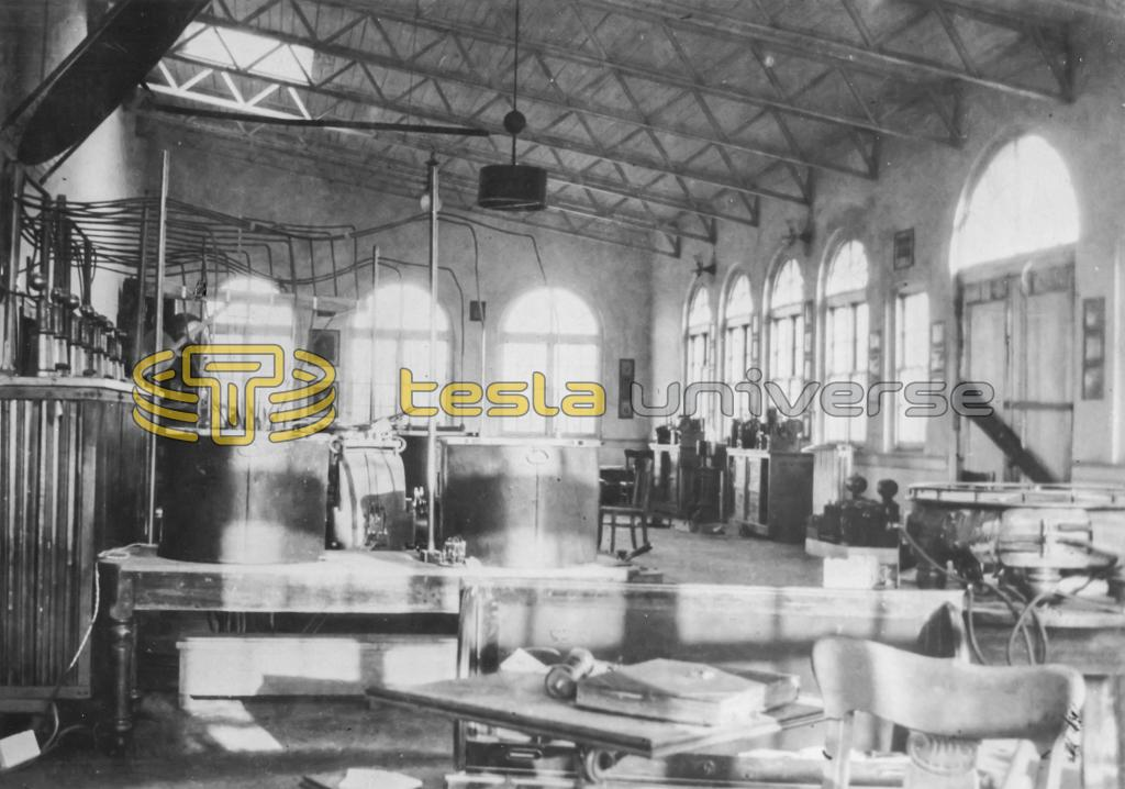 Office and experimental area inside Tesla's laboratory, Wardenclyffe