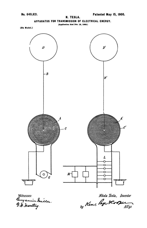 nikola tesla u s  patent 649 621