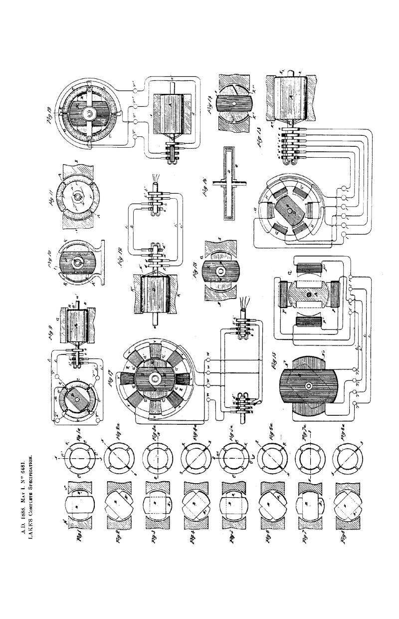Nikola Tesla British Patent 6481 - Improvements Relating to the Electrical Transmission of Power and to Apparatus Therefor - Image 1