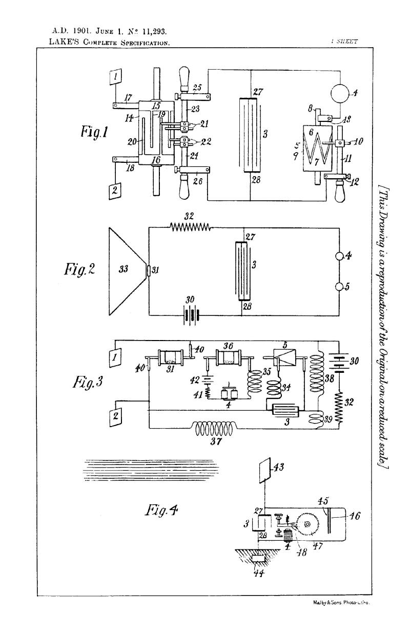 Nikola Tesla British Patent 11,293 - Improvements Relating to the Utilization of Electromagnetic, Light, or Other Like Radiations Effects or Disturbances Transmitted through the Natural Media and to Apparatus Therefor - Image 1