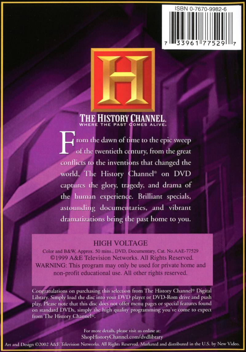 Modern Marvels - High Voltage - Back cover