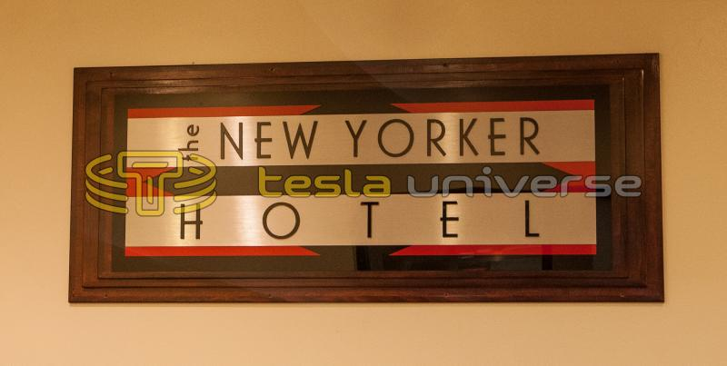 Logo of the New Yorker Hotel where Tesla lived the latter portion of his life