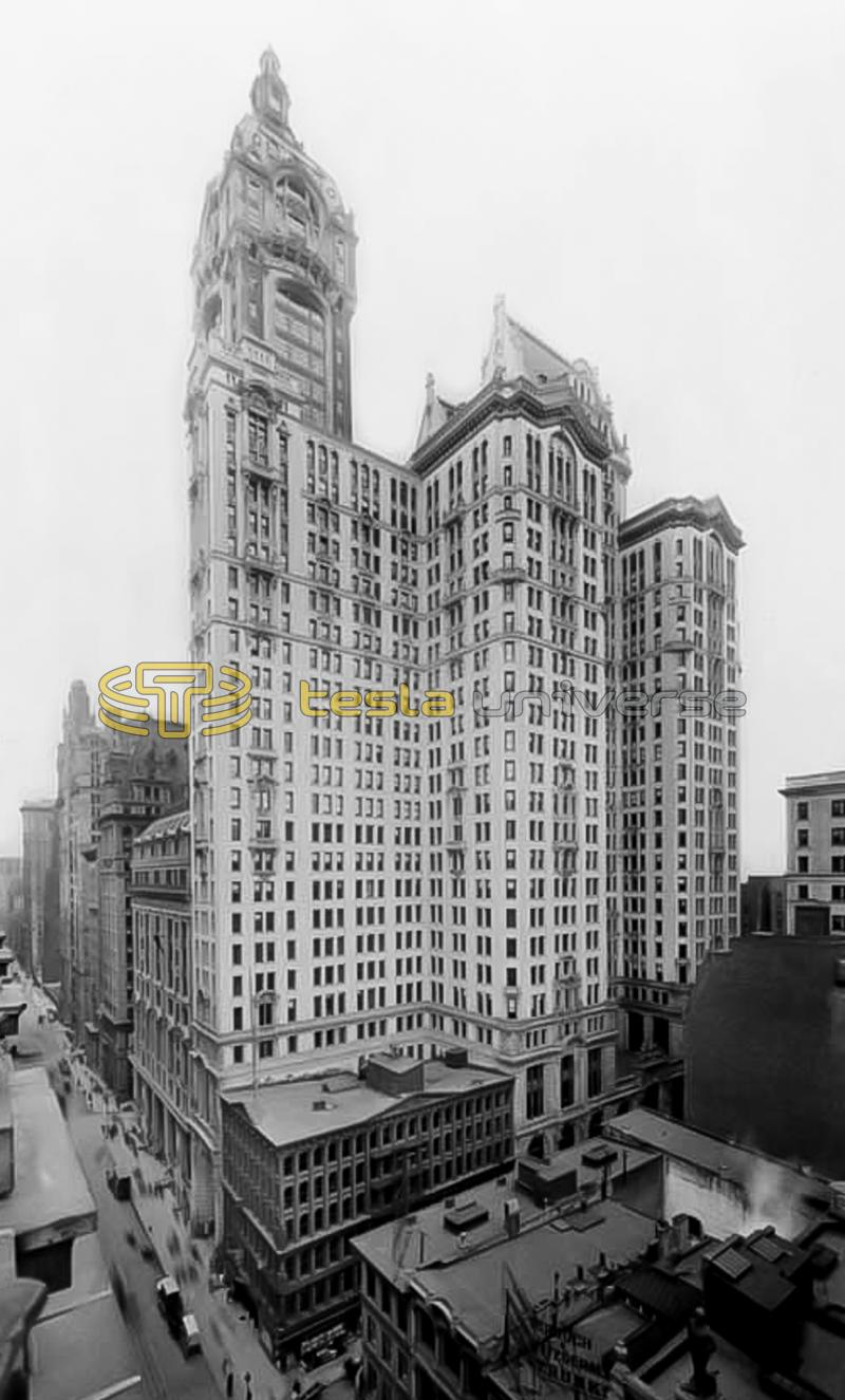 The City Investing Building, New York City where Tesla once had an office.