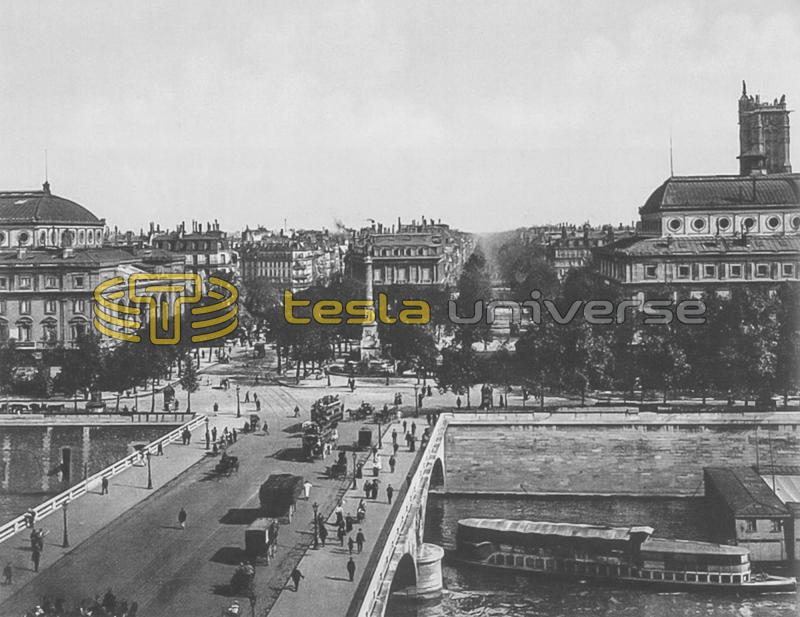 Seine, Paris where Tesla worked in the Ivry-sur-Seine lamp factory