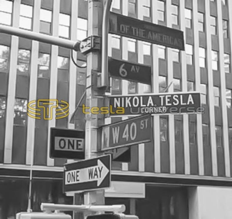 The New York City street corner dedicated to Tesla