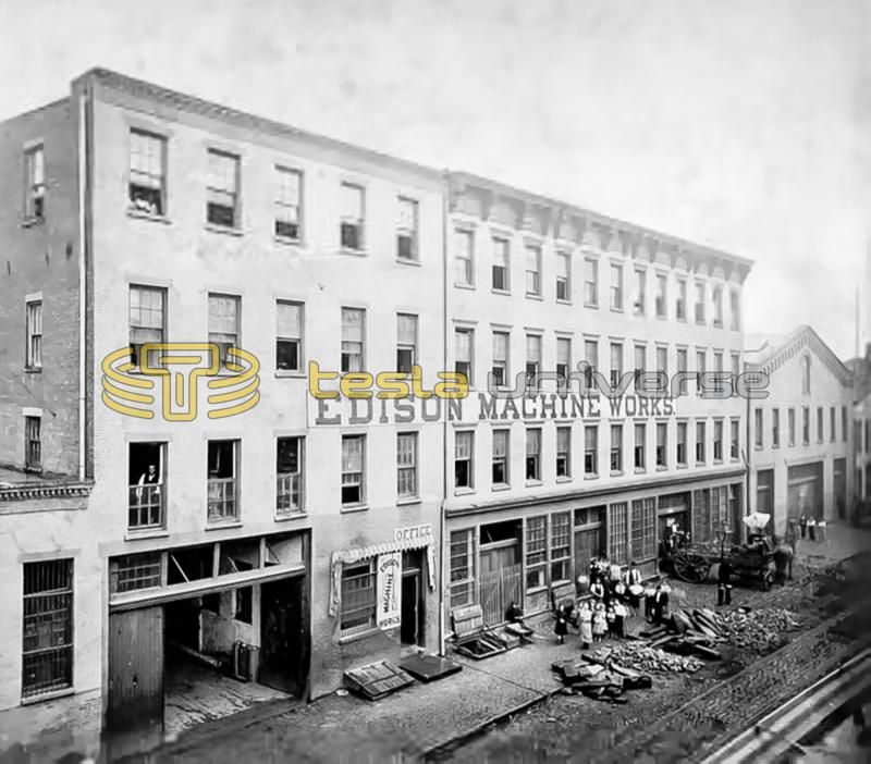 Edison Machine Works on Goerck Street in lower east Manhattan, New York