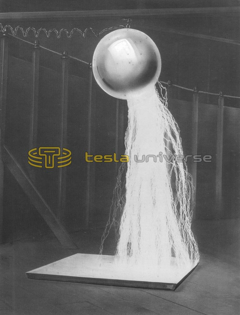 Ball discharge from Nikola Tesla's Colorado Springs Experimental Station