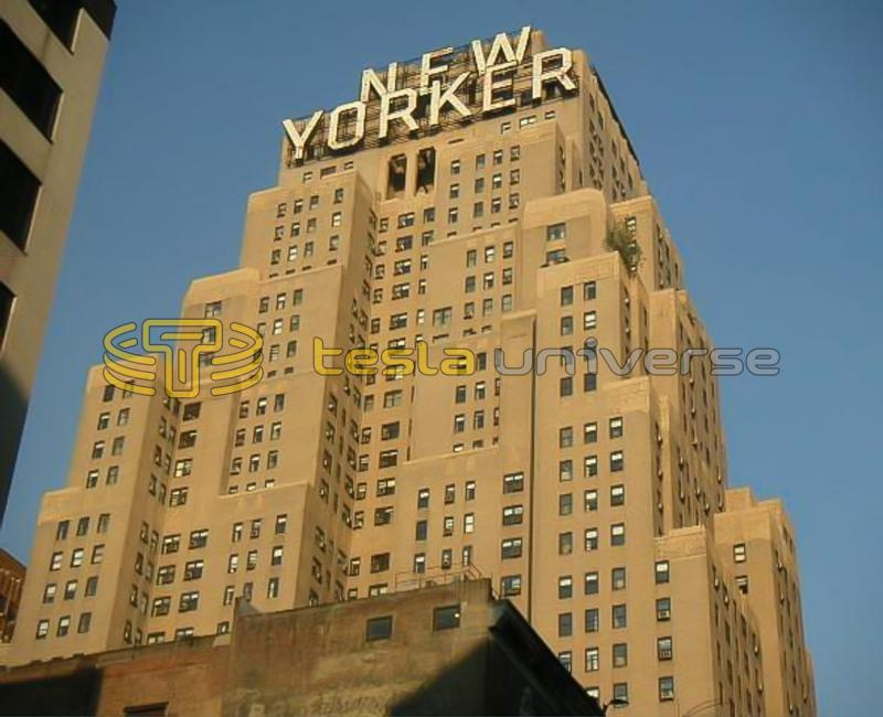 The Hotel New Yorker, where Tesla would live the rest of his life