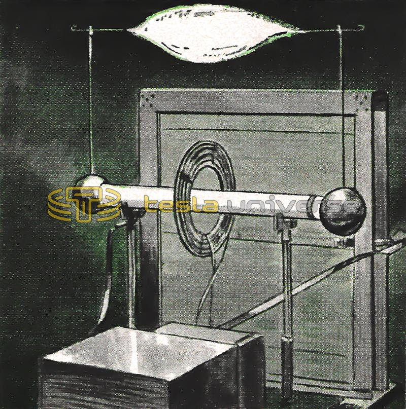 Illustration of Tesla coil in operation