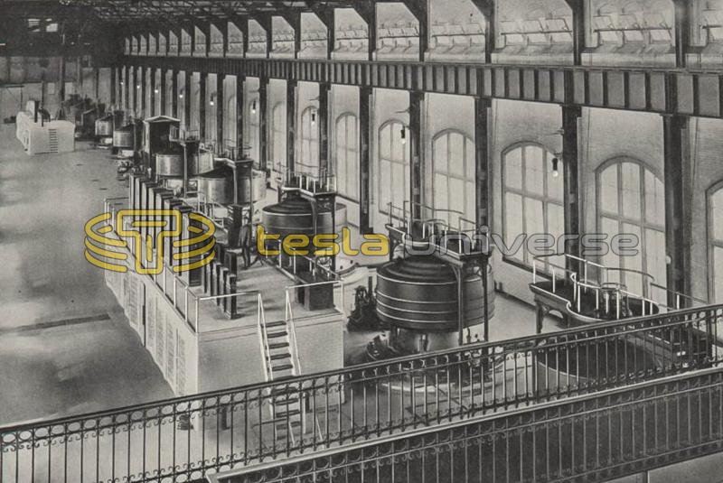 Generating station of The Niagara Falls Power Company, showing the ten 5,000 H.P. generators