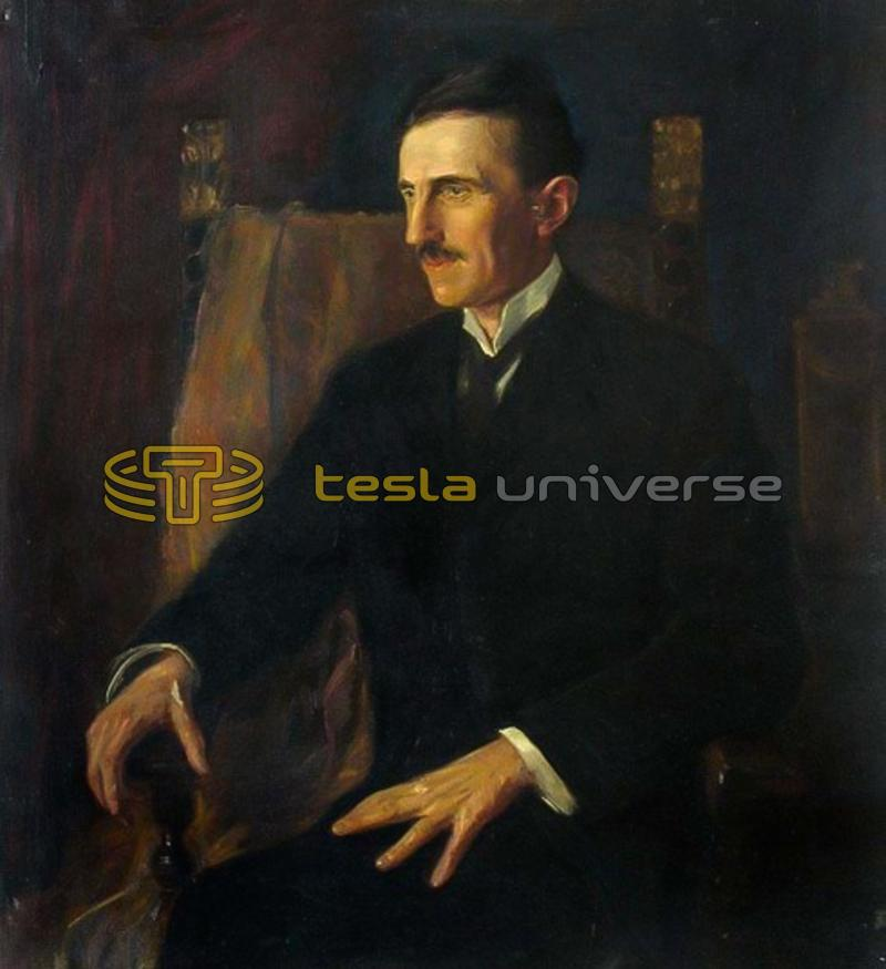 Nikola Tesla, from a painting by the famous Princess Lwoff-Parlaghy