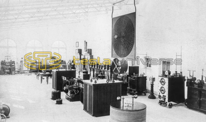 Interior of the Wardenclyffe laboratory of Nikola Tesla