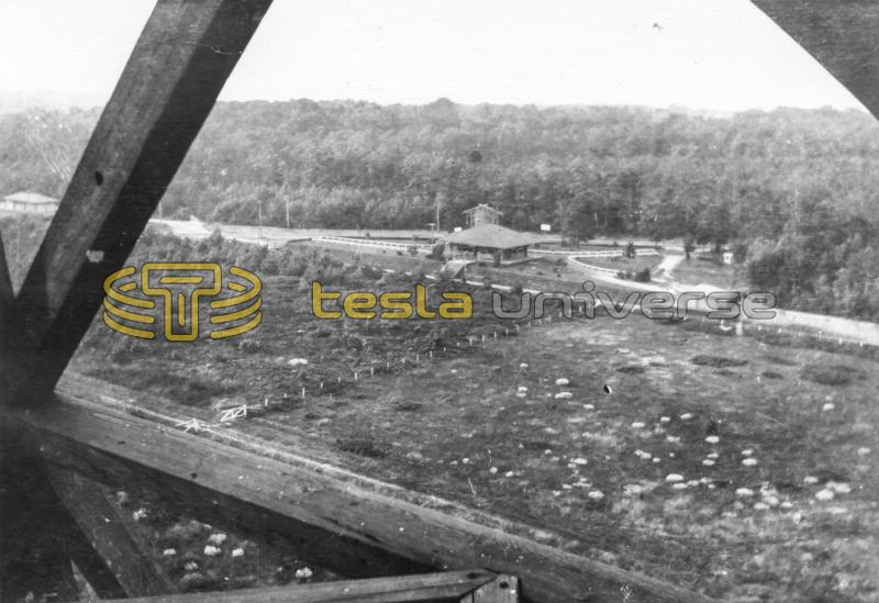 A view of the train station from the Tesla Wardenclyffe tower