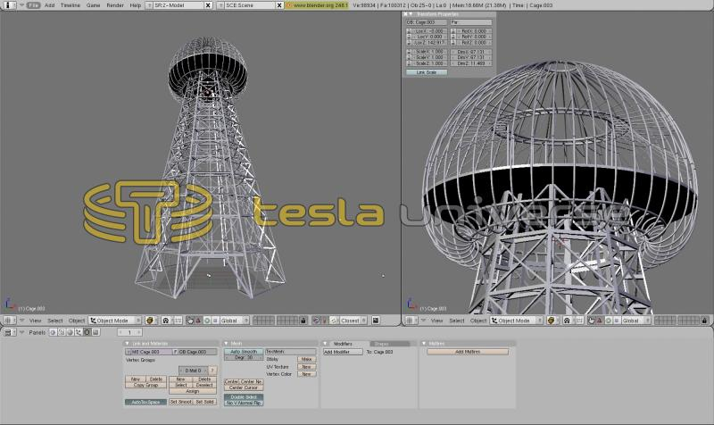 CAD drawing of Wardenclyffe tower