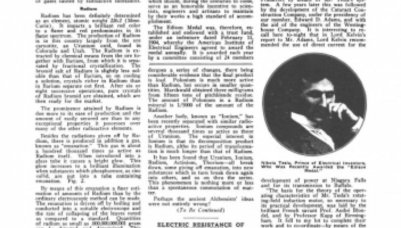 "Preview of Nikola Tesla Receives The ""Edison Medal"" article"