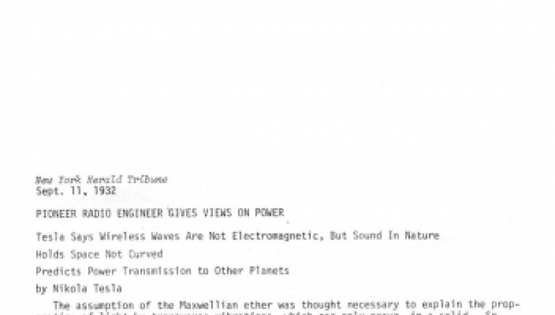 Preview of Pioneer Radio Engineer Gives View on Power article