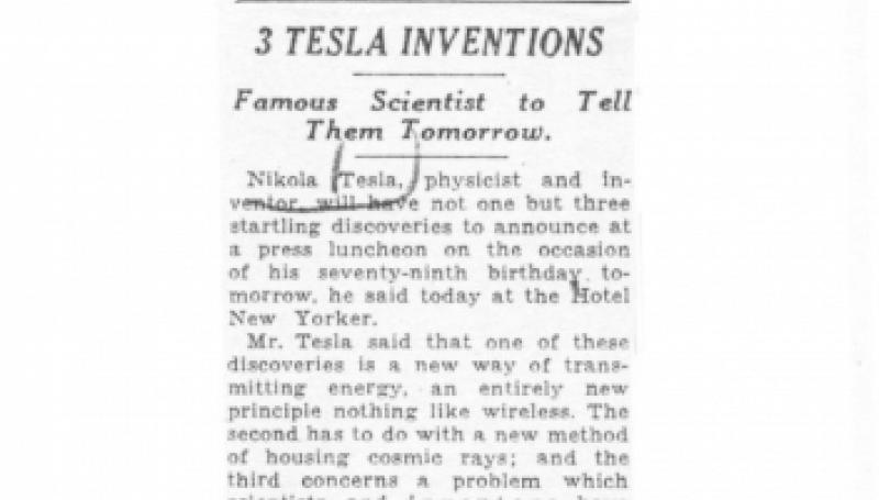 Preview of 3 Tesla Inventions article