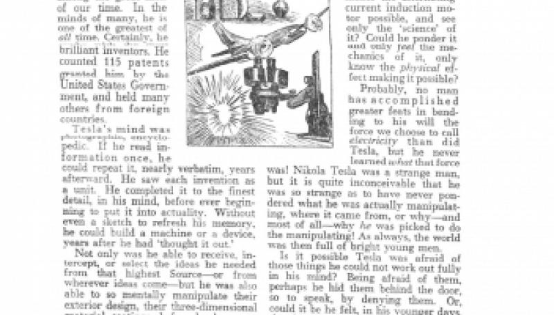 Preview of Was Nikola Tesla a Mystic? article