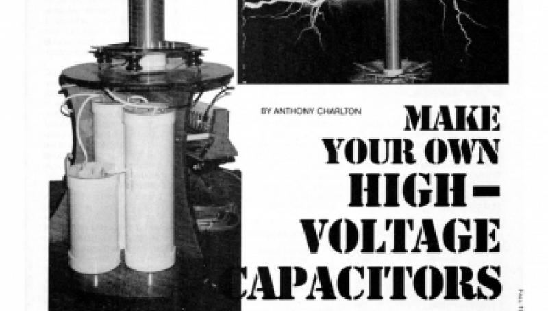 Preview of Make Your Own High-Voltage Capacitors plan