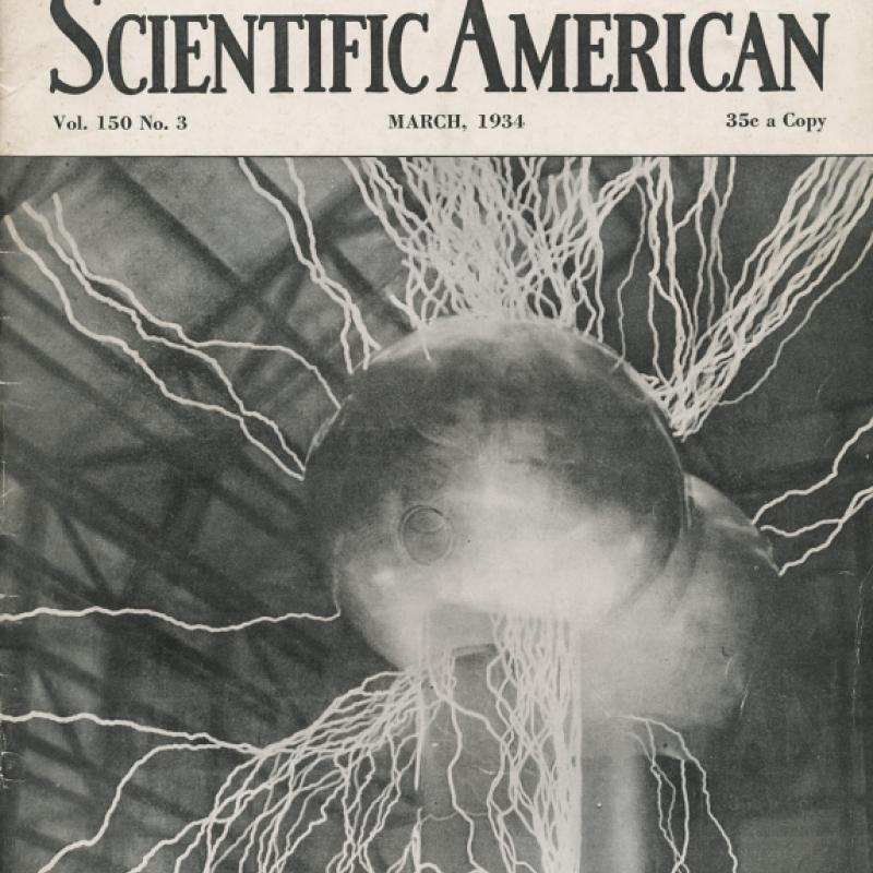 Scientific American magazine with Tesla electro-static article