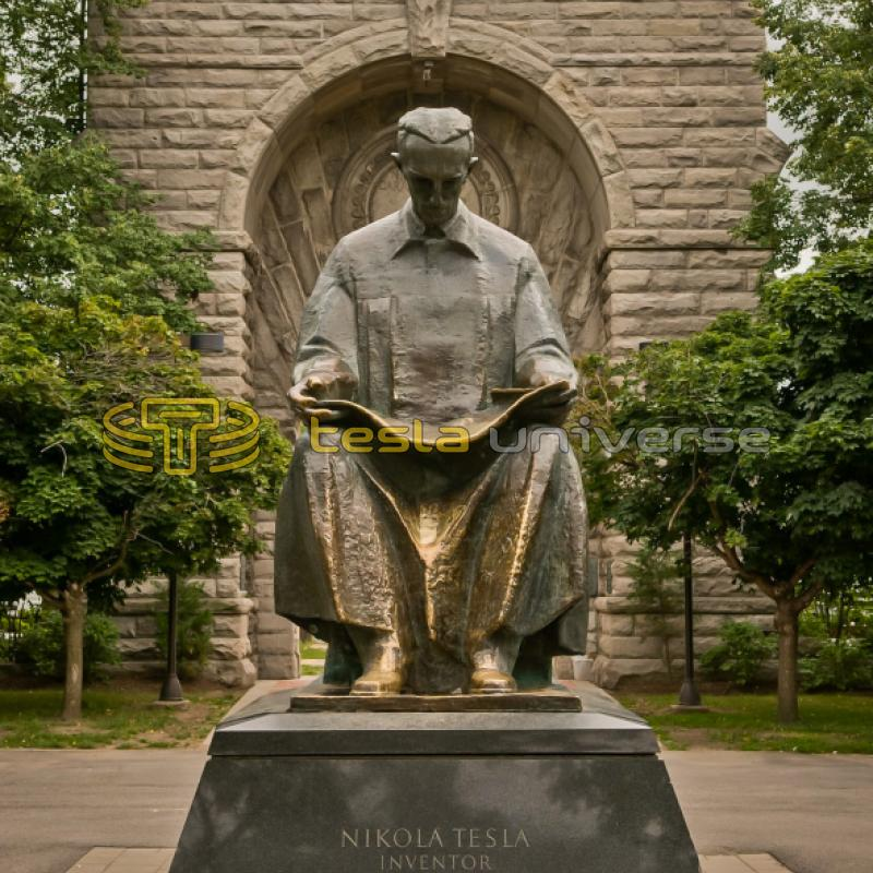 The Tesla statue on Goat Island, Niagara Falls, USA
