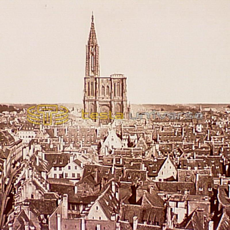 Strasbourg, France where Tesla had assignment by Continental Edison Company