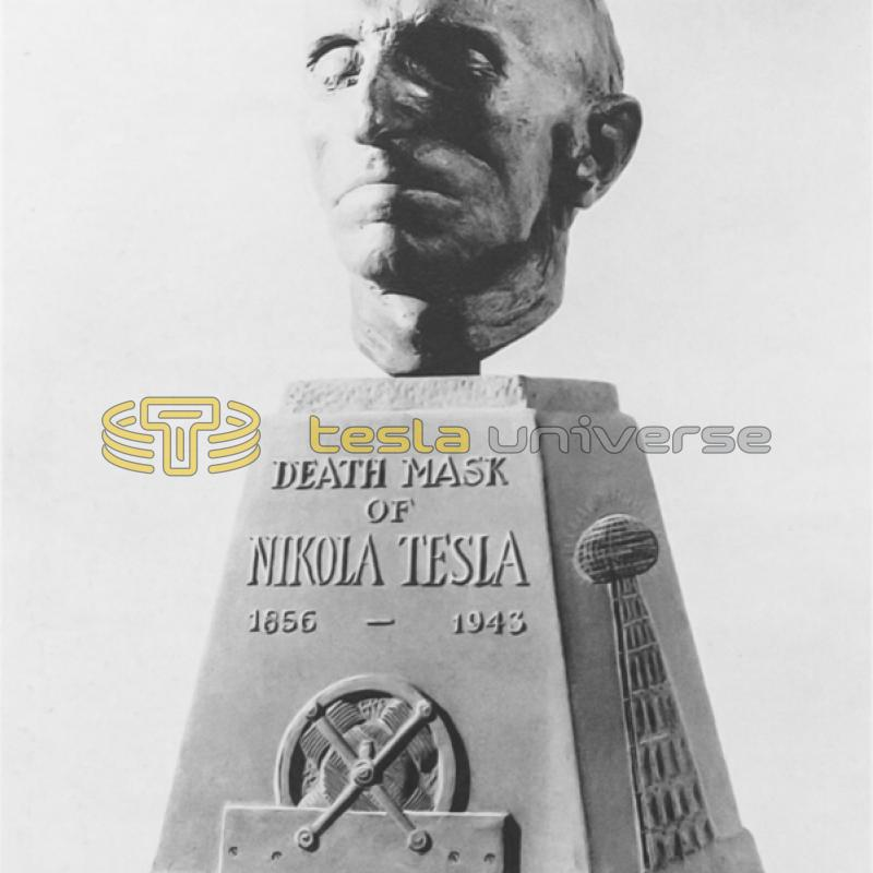 The Tesla death mask as it was originally commissioned
