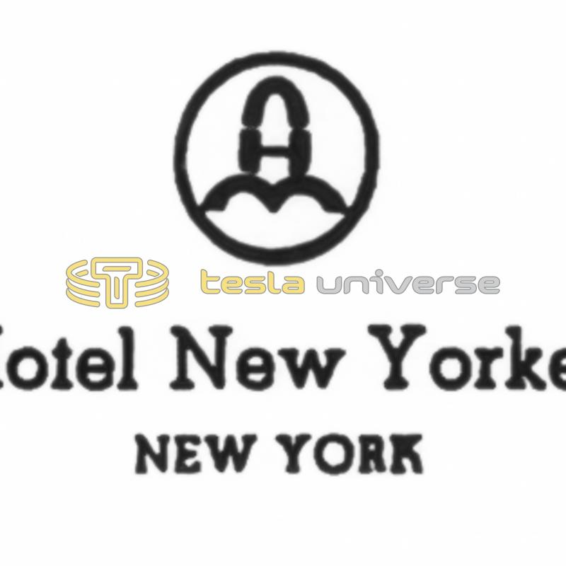 The Hotel New Yorker letterhead from the time when Tesla lived there