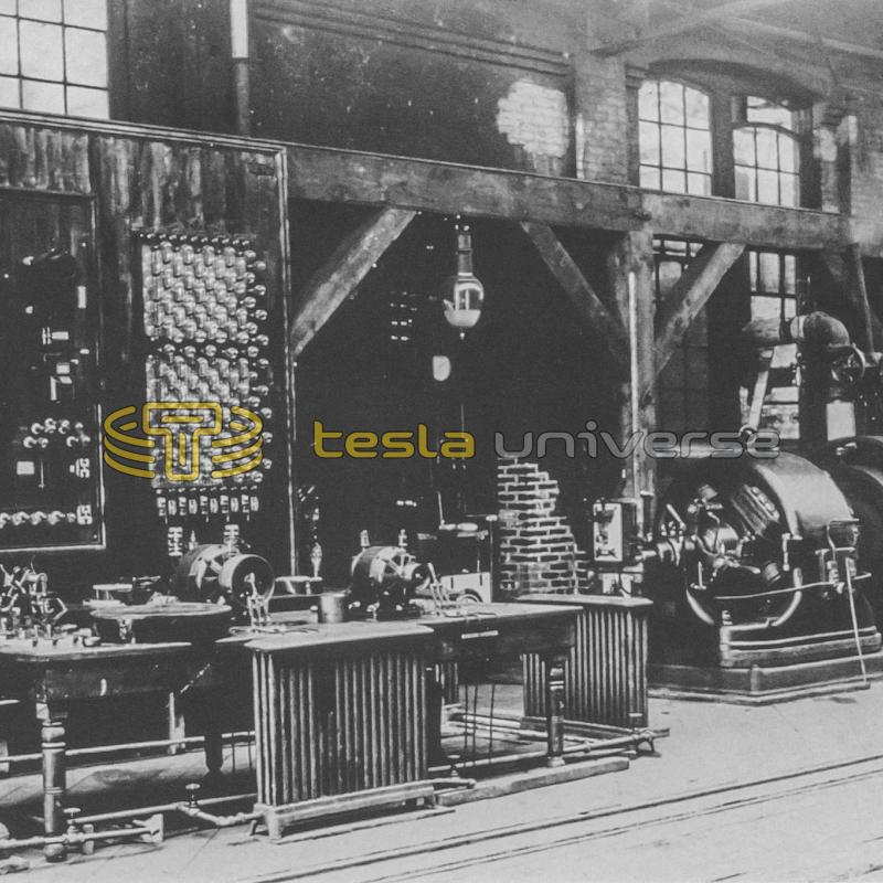 Westinghouse's Pittsburgh laboratory where Tesla developed A.C. equipment