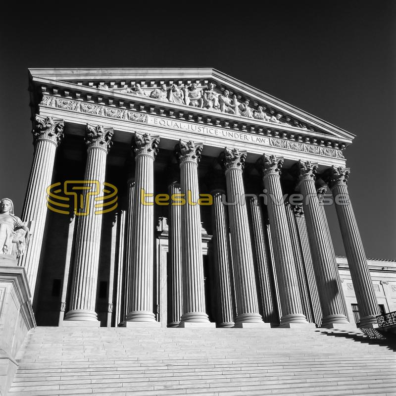 The U.S. Supreme Court building where the Tesla vs. Marconi case was decided in 1943