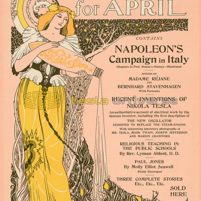 April, 1895 Century promotional poster