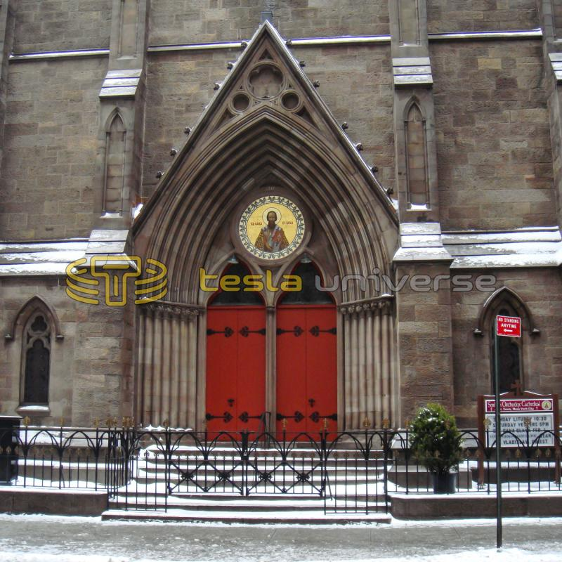 The beautiful architecture of the St. Sava Cathedral in New York City