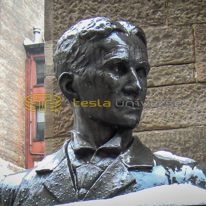 Tesla statue at St. Sava Cathedral in New York City