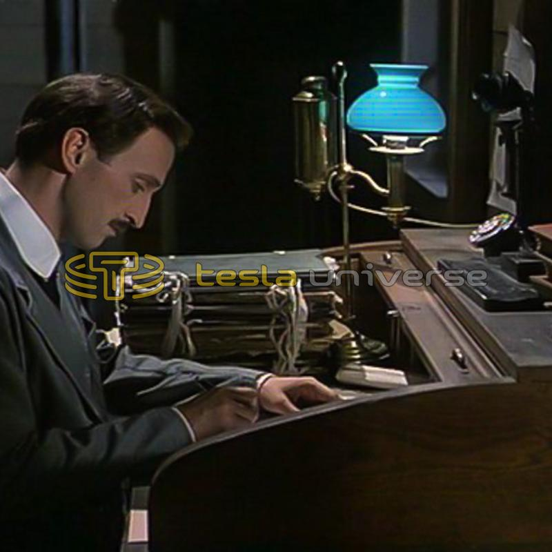 "Petar Božović as Nikola Tesla in ""The Secret of Nikola Tesla"""
