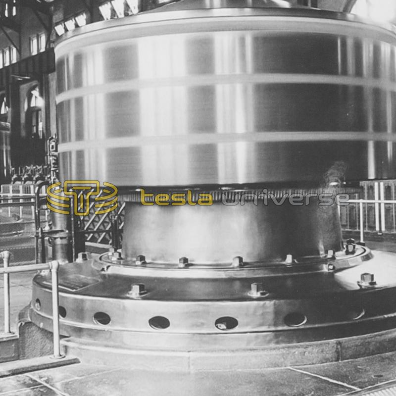 One of the original Westinghouse-Tesla generators from Niagara Falls