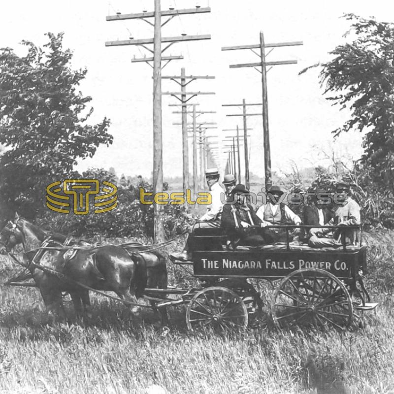 The Niagara Falls Power Company with Buffalo transmission lines