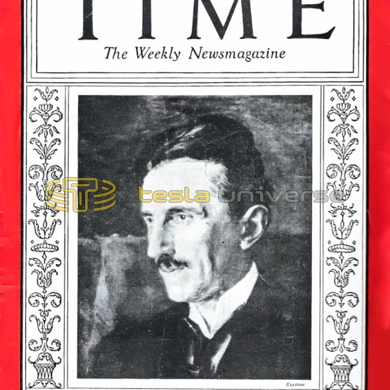 Nikola Tesla cover of 1931 Time magazine