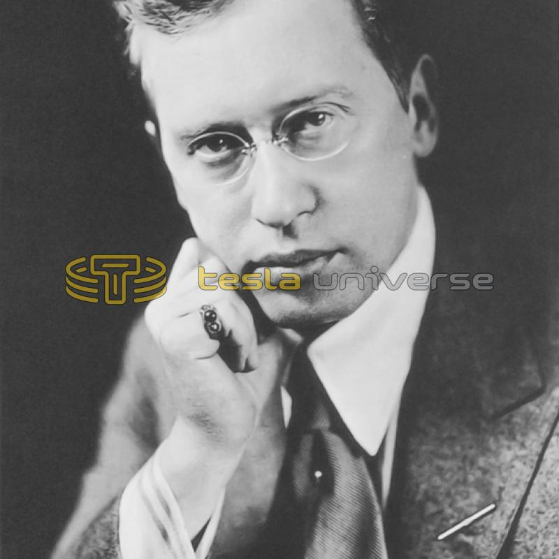 German poet and writer George Sylvester Viereck, friend of Tesla
