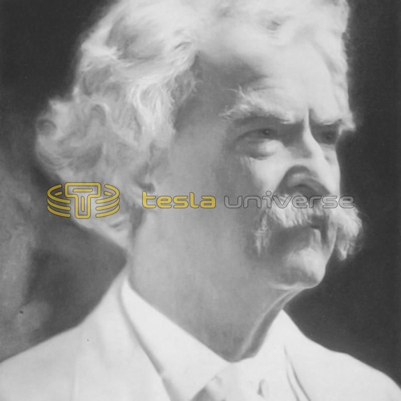 Samuel Langhorne Clemens, better known as Mark Twain, close friend of Tesla