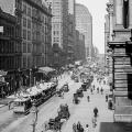 Downtown Chicago, Illinois from around the time Tesla worked for Pyle