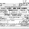 The naturalization record of Nikola Tesla
