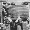 A Westinghouse-Tesla Niagara generator under construction in Pittsburg