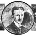 Sketch of Nikola Tesla from Westinghouse ad